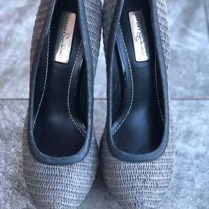 Report signature grey tweed pumps